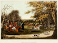 """Books:Prints & Leaves, [Hunting.] Large Chromolithograph of """"A Royal Hunt in WindsorPark."""" London: Edward Orme, 1820. ..."""