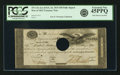 """Fr. TN-11b $50 March 25, 1815 """"Act of February 24, 1815"""" Full Signatures Hole Punch Cancelled Remainder. PCGS..."""