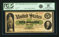 Fr. 2 1861 $5 Philadelphia Demand Note Hessler 242CFD Face Proof. PCGS Extremely Fine 40 Apparent