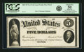 Fr. 61 $5 1862 Legal Tender March 10, 1862 Hessler 244FD Face Proof. PCGS About New 50 Apparent