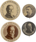 """Political:Pinback Buttons (1896-present), William Howard Taft: Four """"Better"""" 7/8-inch and 1 ¼-inch Portrait Buttons.... (Total: 4 Items)"""