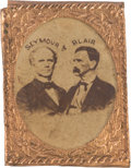 Political:Ferrotypes / Photo Badges (pre-1896), Seymour & Blair: Vertical Format 1868 Cardboard PhotoJugate....