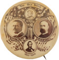 "Political:Pinback Buttons (1896-present), Roosevelt & Fairbanks: The Great ""Old Boys"" Design in Large 1¾-inch Form...."