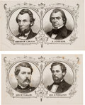 Political:Small Paper (pre-1896), Lincoln-Johnson and McClellan-Pendleton: Two Great 1864 CampaignCards.... (Total: 2 Items)