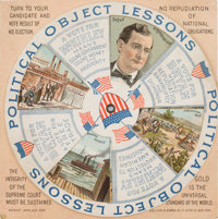 McKinley or Bryan: Fabulous Multicolor Mechanical 1896 Election Card