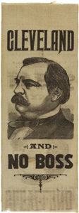 Political:Ribbons & Badges, Grover Cleveland: A Most Unusual and Possibly Early Ribbon....