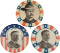 """Political:Pinback Buttons (1896-present), Theodore Roosevelt: Three """"Better"""" 7/8-inch Varieties.. ... (Total: 3 Items)"""