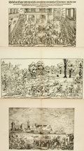 Books:Prints & Leaves, [Sixteenth Century.] Group of Seventeen Black and White EngravingsDepicting Scenes from 16th Century. [N.p., n.d.]. ...