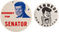 Political:Pinback Buttons (1896-present), Anti-John F. Kennedy: Two 1960 Election Classics....