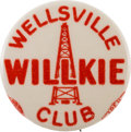 Political:Pinback Buttons (1896-present), Wendell Willkie: A Rare 7/8-inch Button Variety....