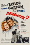 "Movie Posters:Comedy, Remember? (MGM, 1939). One Sheet (27"" X 41"") Style D. Comedy.. ..."