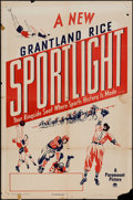 "Movie Posters:Sports, Grantland Rice Sportlight (Paramount, 1950). Stock One Sheet (27"" X 41""). Sports.. ..."