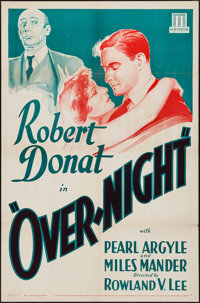 "That Night in London (Mundus, R-1934). Leader Press One Sheet (27"" X 41"") Crime. Reissue Title: Over-Night..."