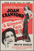 "Movie Posters:Drama, A Woman's Face (MGM, R-1954). One Sheet (27"" X 41""). Drama.. ..."
