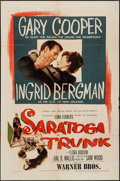 "Movie Posters:Drama, Saratoga Trunk (Warner Brothers, 1945). One Sheet (27"" X 41""). Drama.. ..."