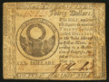 Colonial Notes:Continental Congress Issues, Continental Currency May 20, 1777 $30 Very Fine-Extremely Fine.....