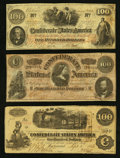 Confederate Notes:1862 Issues, Better T41 and More.. ... (Total: 3 notes)