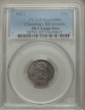 Bust Dimes, 1821 10C Large Date, JR-1, R.2, -- Cleaning -- PCGS Genuine. XFDetails. NGC Census: (0/4). PCGS Population (0/1). Mintage:...