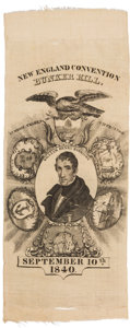 Political:Ribbons & Badges, William Henry Harrison: Great Design on this Fine 1840 Silk Ribbon....