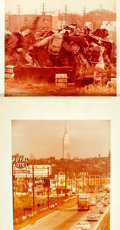 Books:Photography, Herbert Loebel. Pair of Color Photographs Depicting Urban Blight. Circa 1960s. One (signs) is signed by the photographer i...