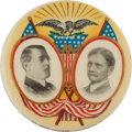 Political:Pinback Buttons (1896-present), Wilson & Marshall: A Superb Multi-Color Design by AmericanArtworks of Coshocton, Ohio....