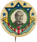 Political:Pinback Buttons (1896-present), William Jennings Bryan: A Magnificent Multi-color 1908 Design by Ehrman Manufacturing Company of Boston....