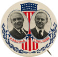 Political:Pinback Buttons (1896-present), Harding & Coolidge: An Utterly Spectacular 2 ¼-inch JugateDesign....