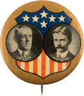 Political:Pinback Buttons (1896-present), Wilson & Marshall: A Dramatic 1 ¾-inch Jugate Rarity....