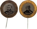 Political:Ferrotypes / Photo Badges (pre-1896), Greeley & Grant: A Terrific Matched Pair of Large 1872Ferrotypes.... (Total: 2 Items)