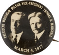 Political:Pinback Buttons (1896-present), Wilson & Marshall: A Distinctive 1 ¼-inch Jugate Button....