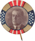 Political:Pinback Buttons (1896-present), Woodrow Wilson: Scarce, Very Colorful 1 ¼-inch Design....