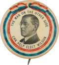 Political:Pinback Buttons (1896-present), Woodrow Wilson: A Rare and Colorful 1 ¾-inch Celluloid Variety....