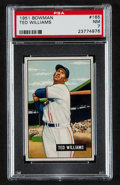 Baseball Cards:Singles (1950-1959), 1951 Bowman Ted Williams #165 PSA NM 7....