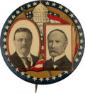Political:Pinback Buttons (1896-present), Roosevelt & Fairbanks: A Scarce 1 ¼-inch Jugate with Capitol Building in Background....