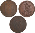 Political:Tokens & Medals, Thomas Paine: A Group of Three Scarce c. 1796 Satirical Political Items.... (Total: 3 Items)