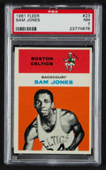 Basketball Cards:Singles (Pre-1970), 1961 Fleer Sam Jones #23 PSA NM 7....