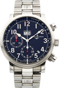Timepieces:Wristwatch, Ulysse Nardin Ref. 513-22/62 Steel Marine Chronograph With AnnualCalendar, circa 2007. ...