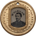 Political:Ferrotypes / Photo Badges (pre-1896), George C. McClellan: A Mint 1864 Campaign Ferro in an Attractiveand Uncommon Frame....
