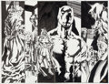 Original Comic Art:Splash Pages, Sal Velluto and Bob Almond Black Panther #28 Pages 5 and 6Double Splash Original Art (Marvel, 2001)....