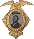 Political:Ferrotypes / Photo Badges (pre-1896), Ulysses S. Grant: A Virtually Mint Ferro in one of the MostAttractive Brass Shell Frames....
