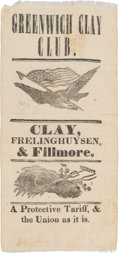 Political:Ribbons & Badges, Millard Fillmore: A Rare 1844 Clay Ribbon with Fillmore as a Coat-Tail Candidate for Governor of New York....
