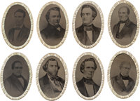 1860 Candidates: A Spectacular Set of Ferrotype Buckles Picturing the Four Tickets of Presidential and Vice Presidential...