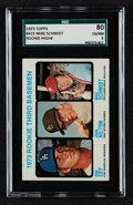 Baseball Cards:Singles (1970-Now), 1973 Topps Mike Schmidt/Ron Cey Rookie 3rd Basemen #615 SGC 80EX/NM 6....