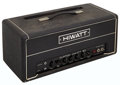 Musical Instruments:Amplifiers, PA, & Effects, 1977 HiWatt DR-505 Black Guitar Amplifier Head, Serial # 10760....