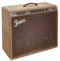 Musical Instruments:Amplifiers, PA, & Effects, 1960 Fender Pro Amp Reverse Control Panel Brown Guitar Amplifier,Serial # 00261....