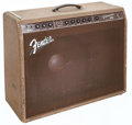 Musical Instruments:Amplifiers, PA, & Effects, 1960 Fender Reverse Control Panel Vibrasonic Brown GuitarAmplifier, Serial # 00089....
