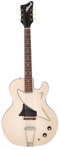 Musical Instruments:Electric Guitars, 1962 National Studio 66 Sand Buff Solid Body Electric Guitar,Serial # T83804....