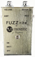 Musical Instruments:Amplifiers, PA, & Effects, 1960 Mosrite Super Fuzz Silver Effect Pedal....