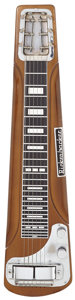 Musical Instruments:Lap Steel Guitars, Early 1960's Rickenbacker SW Brown Lap Steel Guitar, Serial #SW5281....