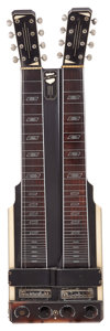 Musical Instruments:Lap Steel Guitars, Circa 1951 National Electric Grand Console Black Double Neck Lap Steel Guitar, Serial # 04981....